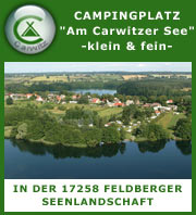 Camping in Carwitz - Feldberger Seenlandschaft