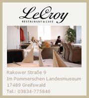 Café Le Croy im Pommerschen Landesmuseum Greifswald