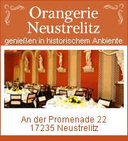 Orangerie Neustrelitz - Café, Gartensalon, Brasserie